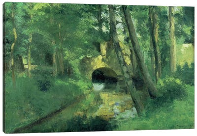 The Little Bridge, Pontoise, 1875 Canvas Art Print