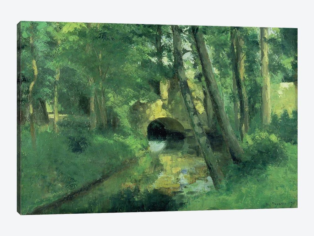 The Little Bridge, Pontoise, 1875 by Camille Pissarro 1-piece Canvas Art