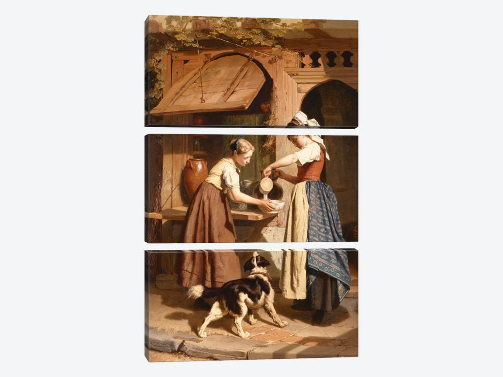 At the Dairy, 1866  by Theodore Gerard 3-piece Canvas Artwork