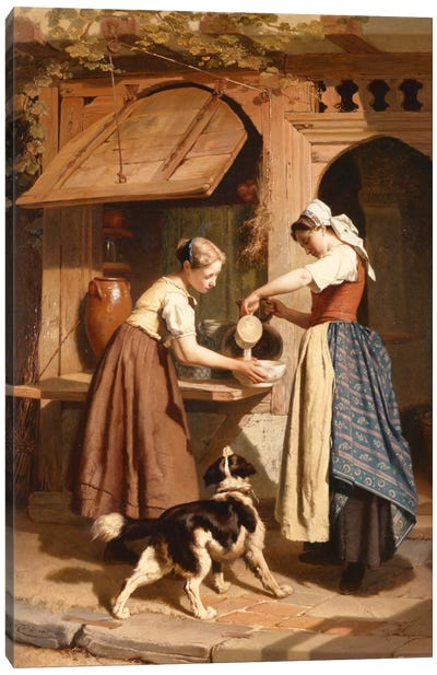 At the Dairy, 1866  Canvas Art Print