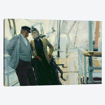 On Deck  Canvas Print #BMN1743} by Louis Anet Sabatier Canvas Art Print
