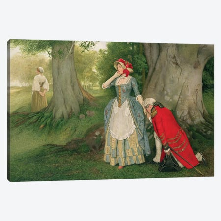 The Proposal  Canvas Print #BMN1745} by Sir James Dromgole Linton Canvas Art