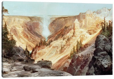 The Grand Canyon of the Yellowstone, 1872  Canvas Art Print
