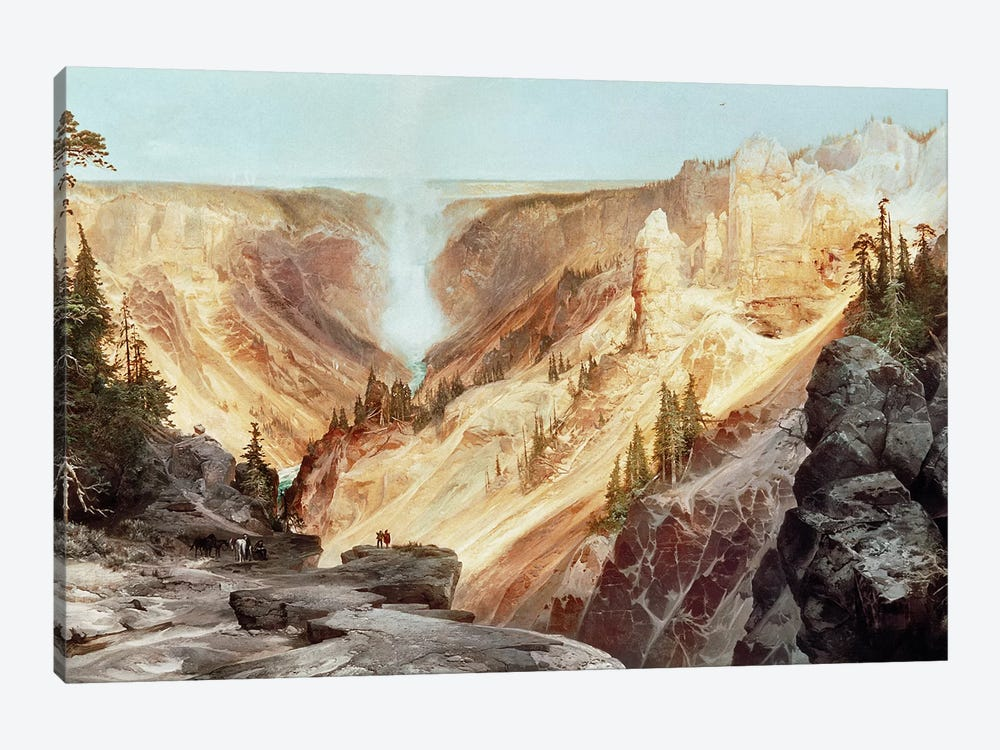 The Grand Canyon of the Yellowstone, 1872  by Thomas Moran 1-piece Canvas Print