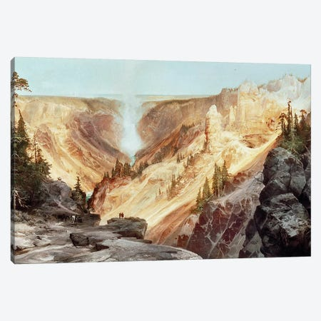 The Grand Canyon of the Yellowstone, 1872  Canvas Print #BMN174} by Thomas Moran Canvas Art Print