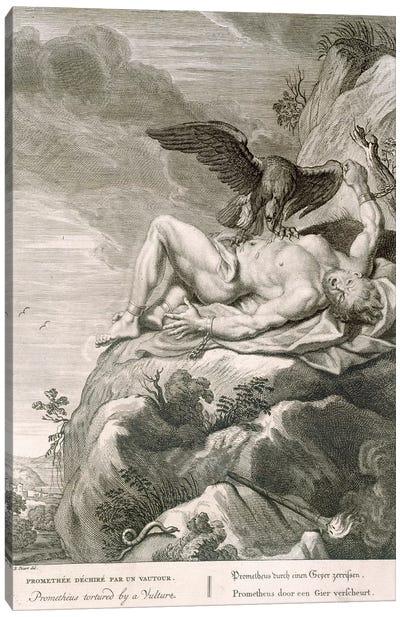Prometheus Tortured by A vulture, 1731  Canvas Art Print