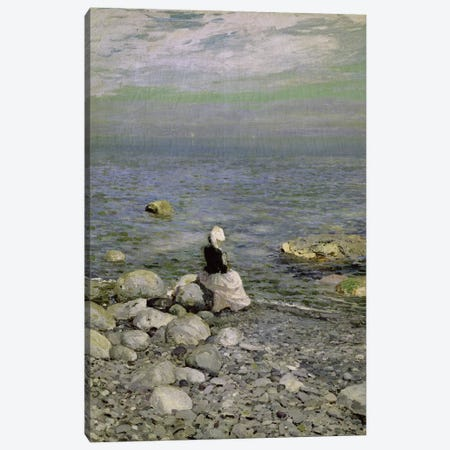On the Shore of the Black Sea, 1890s  Canvas Print #BMN1764} by Konstantin Alekseevich Korovin Canvas Artwork