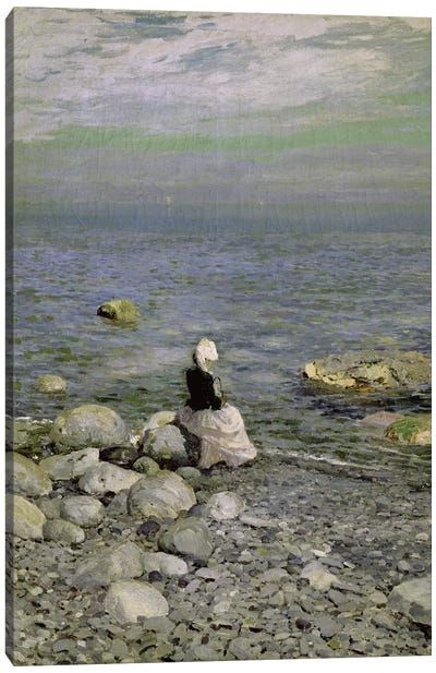 On the Shore of the Black Sea, 1890s  Canvas Art Print
