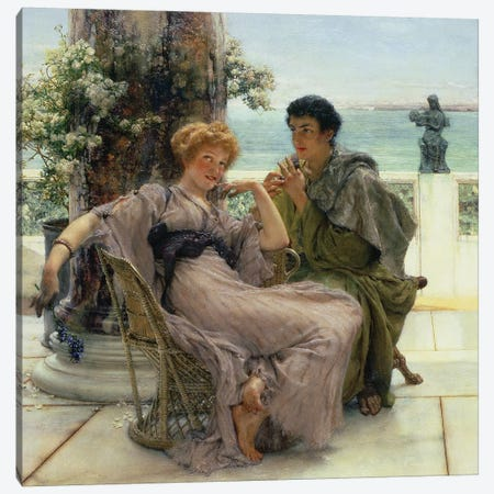Courtship  3-Piece Canvas #BMN1765} by Sir Lawrence Alma-Tadema Canvas Wall Art