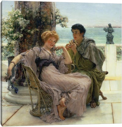 Courtship  Canvas Art Print