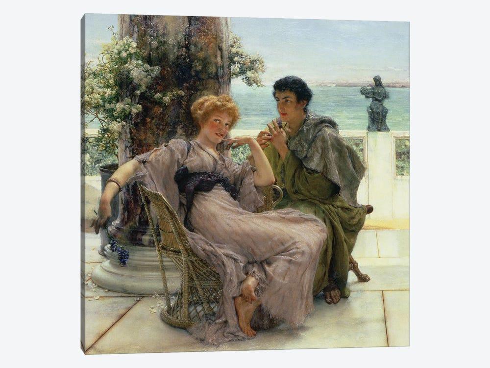 Courtship  by Sir Lawrence Alma-Tadema 1-piece Canvas Art Print