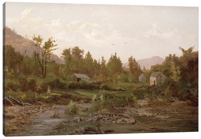Landscape with Trees and Houses, 1890s  Canvas Art Print