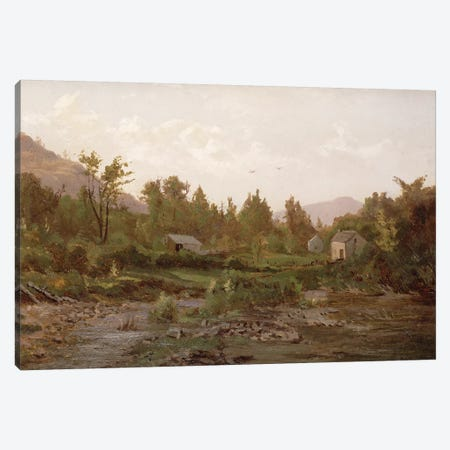 Landscape with Trees and Houses, 1890s  Canvas Print #BMN1766} by Thomas Worthington Whittredge Canvas Artwork