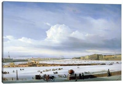 Driving on the Neva, 1854  Canvas Art Print