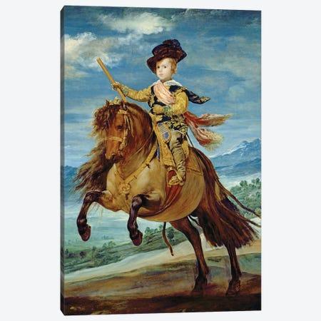 Prince Balthasar Carlos on horseback, c.1635-36  Canvas Print #BMN176} by Diego Rodriguez de Silva y Velazquez Art Print