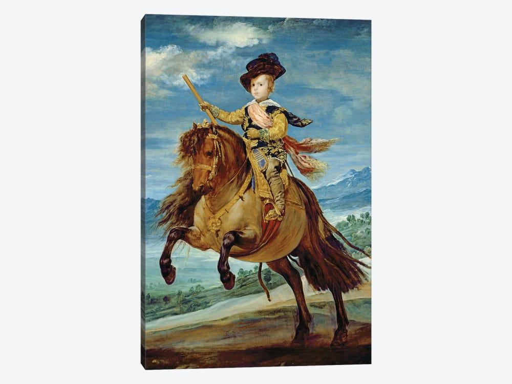 Prince Balthasar Carlos on horseback, c.1635-36  by Diego Rodriguez de Silva y Velazquez 1-piece Art Print