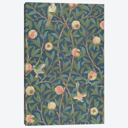 'Bird and Pomegranate' Wallpaper Design, printed by John Henry Dearle  Canvas Print #BMN1771} by William Morris Canvas Art