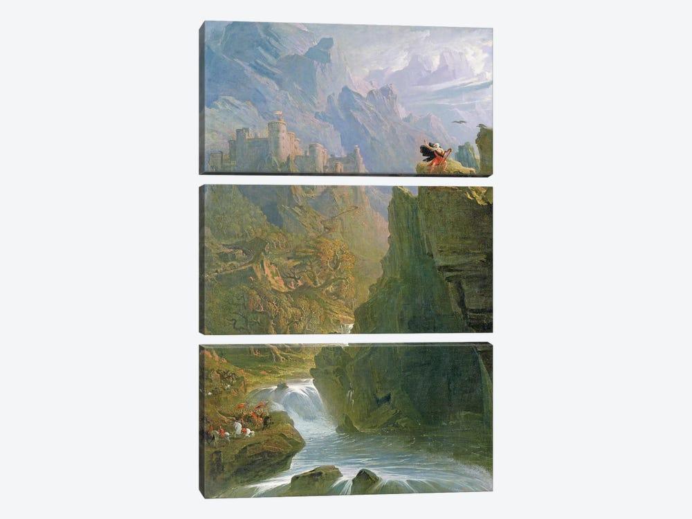 The Bard, c.1817  by John Martin 3-piece Canvas Art Print