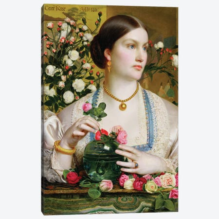Grace Rose, 1866  Canvas Print #BMN1773} by Anthony Frederick Augustus Sandys Canvas Wall Art