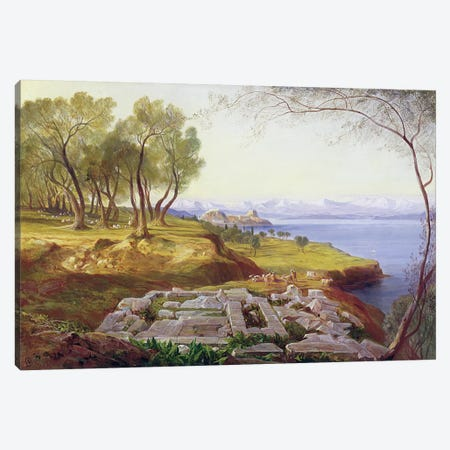 Corfu from Ascension, c.1856-64  Canvas Print #BMN1774} by Edward Lear Art Print