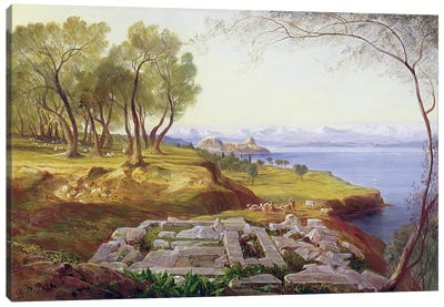 Corfu from Ascension, c.1856-64  Canvas Art Print