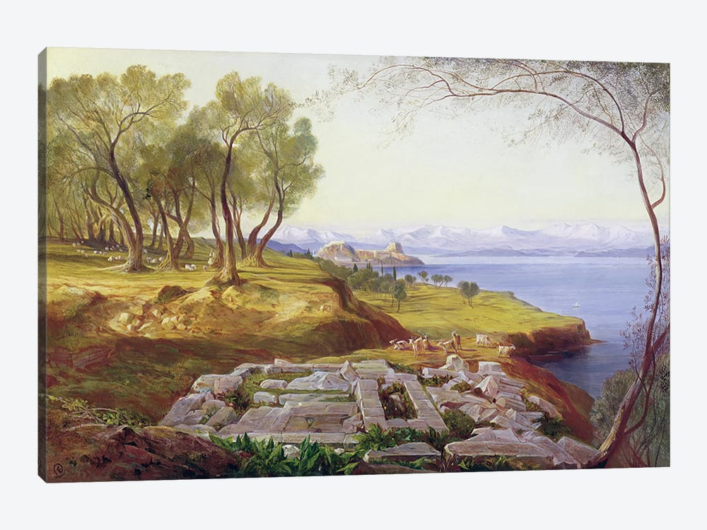 Corfu from Ascension, c.1856-64 by Edward Lear 1-piece Art Print