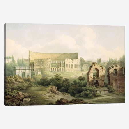 The Colosseum, Rome, 1802  Canvas Print #BMN1777} by John Warwick Smith Canvas Print