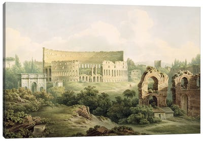 The Colosseum, Rome, 1802  Canvas Art Print
