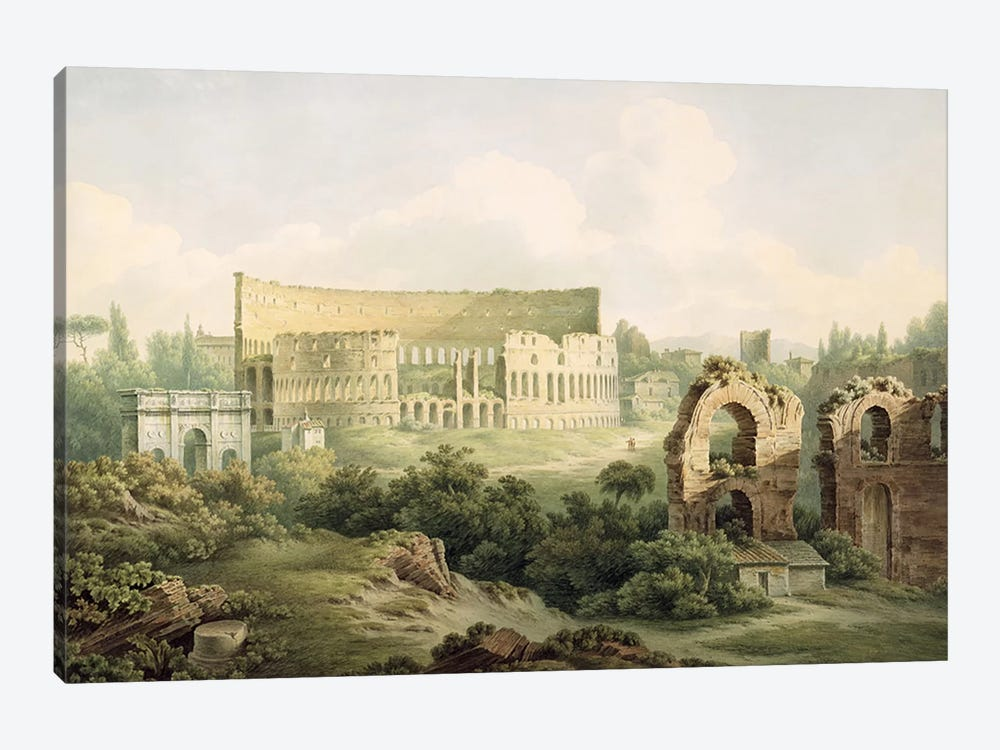 The Colosseum, Rome, 1802 by John Warwick Smith 1-piece Canvas Artwork