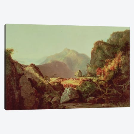 Scene from 'The Last of the Mohicans', by James Fenimore Cooper  Canvas Print #BMN177} by Thomas Cole Canvas Print