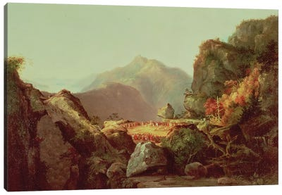 Scene from 'The Last of the Mohicans', by James Fenimore Cooper  Canvas Art Print