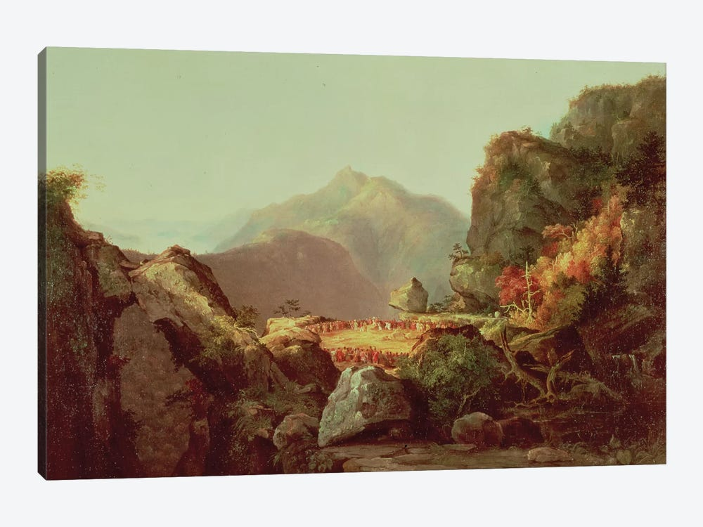 Scene from 'The Last of the Mohicans', by James Fenimore Cooper  by Thomas Cole 1-piece Canvas Art