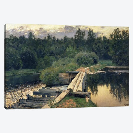 At the Shallow, 1892  Canvas Print #BMN1786} by Isaak Ilyich Levitan Canvas Artwork