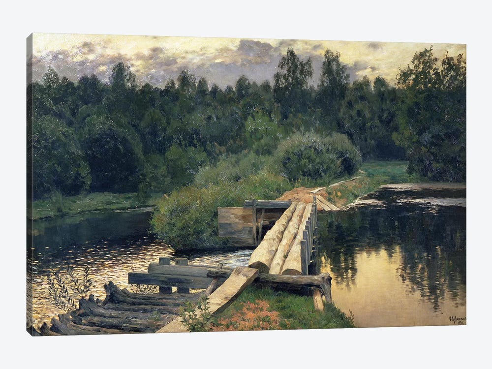 At the Shallow, 1892  by Isaak Ilyich Levitan 1-piece Canvas Art