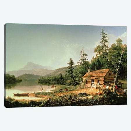 Home in the Woods, 1847  Canvas Print #BMN178} by Thomas Cole Canvas Artwork