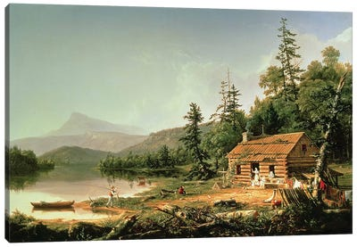 Home in the Woods, 1847  Canvas Art Print