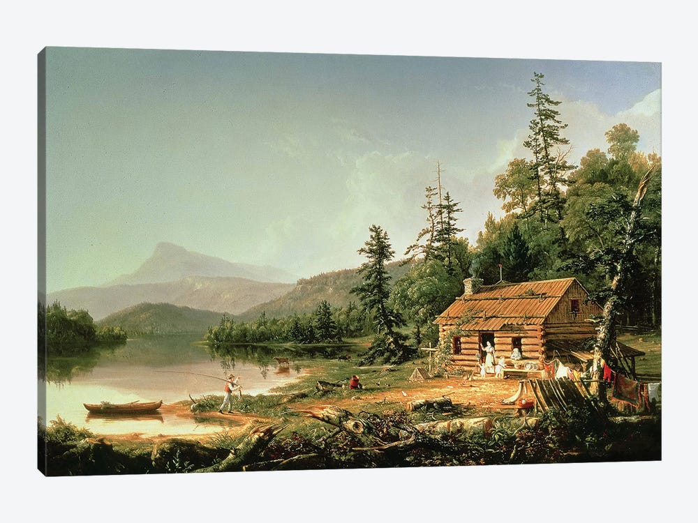Home in the Woods, 1847  by Thomas Cole 1-piece Canvas Art Print