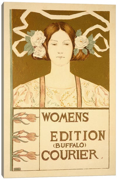 Reproduction of a poster advertising the 'Women's edition Buffalo Courier' Canvas Art Print