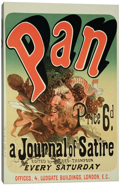 Pan (A Journal Of Satire) By Alfred Thompson Advertisement Canvas Art Print