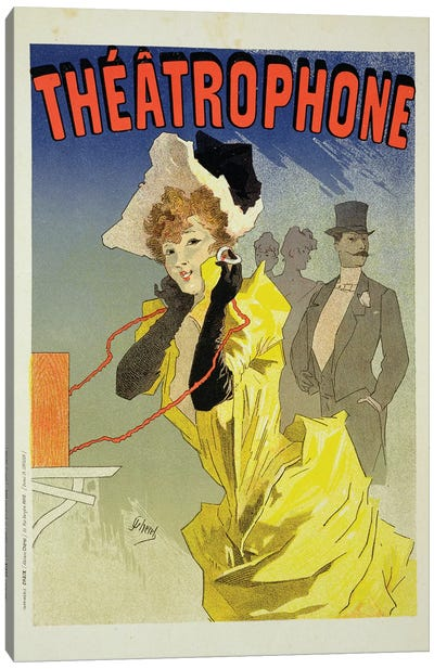 Theatrophone Advertisement, 1890  Canvas Art Print