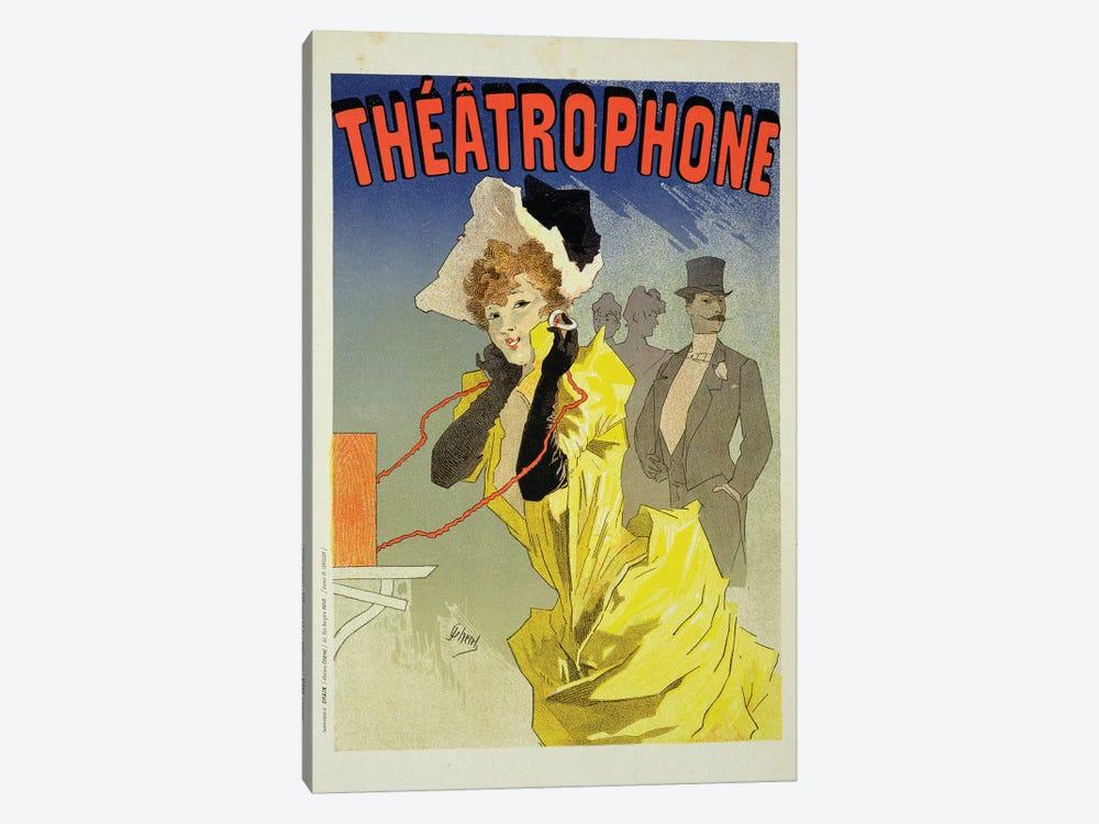 Theatrophone Advertisement, 1890  by Jules Cheret 1-piece Canvas Art