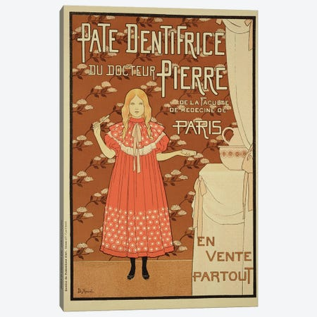 Paté Dentifrice du Docteur Pierre (Dr. Pierre's Toothpaste) Vintage Advertisement Canvas Print #BMN1797} by Louis Maurice Boutet de Monvel Canvas Art Print