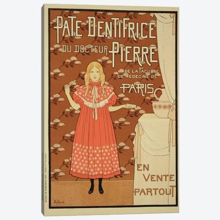 Paté Dentifrice du Docteur Pierre (Dr. Pierre's Toothpaste) Vintage Advertisement Canvas Print #BMN1797} by Louis Maurice Boutet de Monvel Canvas Art Print