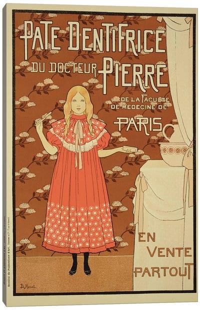 Paté Dentifrice du Docteur Pierre (Dr. Pierre's Toothpaste) Vintage Advertisement Canvas Art Print
