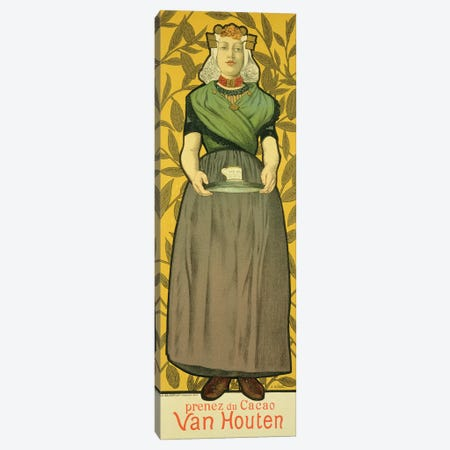Reproduction of a poster advertising 'Van Houten Cocoa', 1893  Canvas Print #BMN1799} by Adolphe Leon Willette Canvas Wall Art