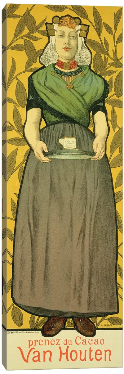 Reproduction of a poster advertising 'Van Houten Cocoa', 1893  Canvas Art Print