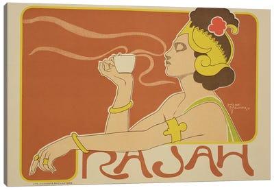 Cafe Rajah Advertisement, 1897  Canvas Art Print