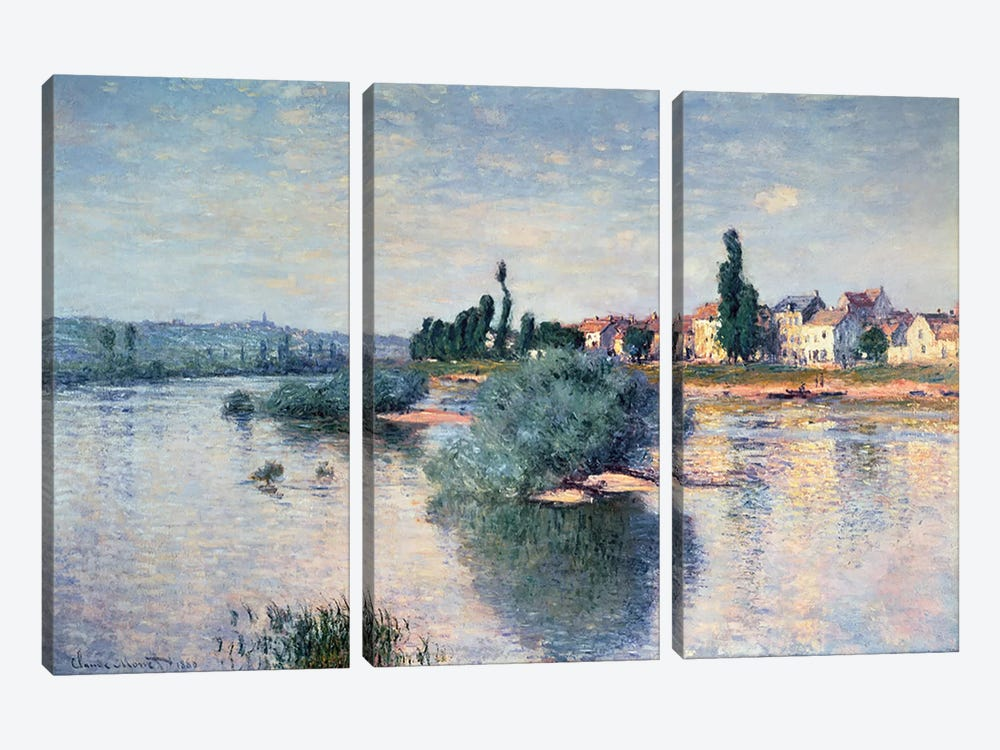 Lavacourt, 1880  by Claude Monet 3-piece Art Print