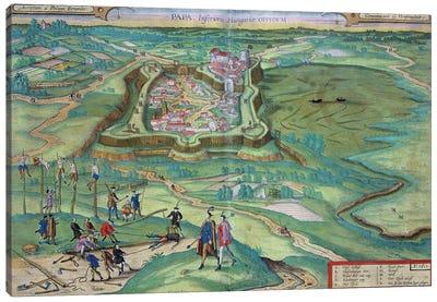Map of Papa, from 'Civitates Orbis Terrarum' by Georg Braun  Canvas Art Print