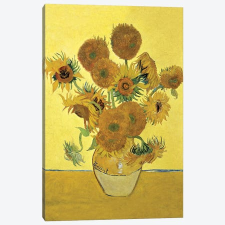 Sunflowers (Fourth Version), 1888  Canvas Print #BMN182} by Vincent van Gogh Art Print